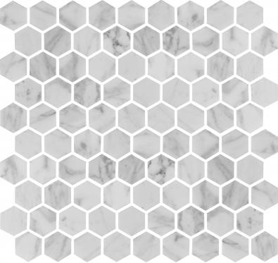 U Hexagon Carrara Polished
