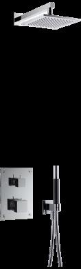 Takduschset BOX8268 Square Edition 2 för inbyggnad