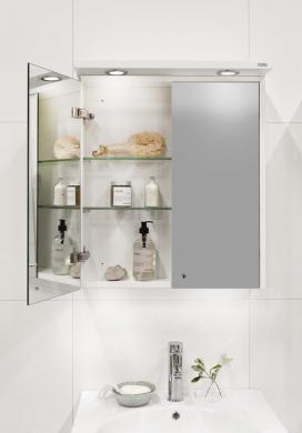 Spegelskåp POLO 600 Vit LED