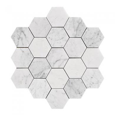 U Hexagon Large Carrara Honed
