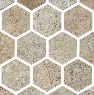 O0800 Marmor hexagon polerad beige