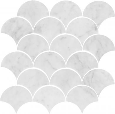 U Fish Scale Carrara Polished