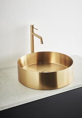Tvättställ CIRCLE STEEL Borstad Ø376 mm